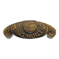 Dartmouth College Coat of Arms Bronze Drawer Pull