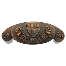 Harvard University Coat of Arms Copper Drawer Pull Handle