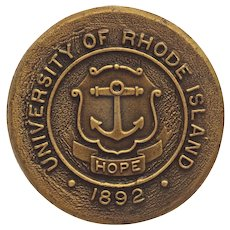 University of Rhode Island Coat of Arms Drawer Pull Knob
