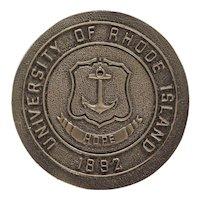 University of Rhode Island Door Knob Coat of Arms 1892