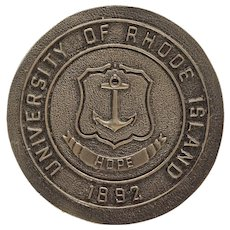 University of Rhode Island Door Knob Coat of Arms 1892