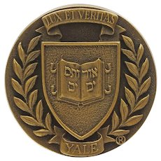 Yale Bronze Door Knob Coat of Arms University Lux et Veritas