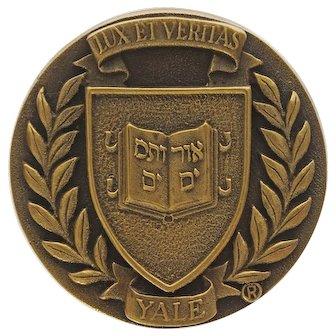 Yale Bronze Door Knob Coat of Arms University Lux et Veritas