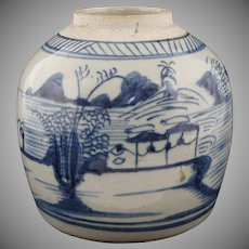 Chinese Porcelain Stoneware Blue and White Ginger Jar