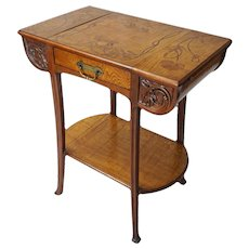 Ecole de Nancy Art Nouveau Signed Camille Gauthier Table - c. 1900's, France