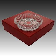 Baccarat Carafe / Decanter Stand Bottle Coaster Mille Nuits Pattern Signed Mathias Boxed - 20th Century, France