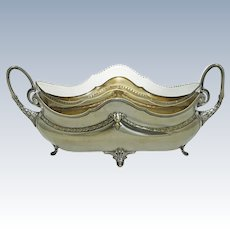 Antique WMF Jardiniere Centerpiece Silver Plate Original Glass Liner Art Nouveau Period - circa 1909 to 1914 mark, Germany