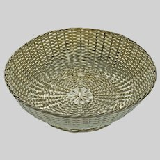 Christofle France Vannerie Bread or Fruit Basket Silver Plate - 20th Century, France