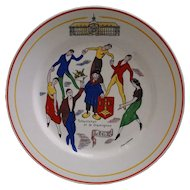 Boch Freres La Louviere Belgian Pottery Liege Wall Plate MCM signed Jean Donnay - 20th Century, Belgium