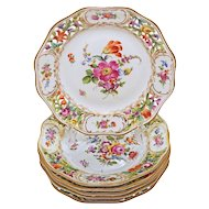 Carl Thieme Dresden Reticulated Pierced Dessert Plates Dishes Saxonian Porcelain