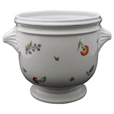 Large Planter for Tiffany & Co. French Porcelain Flower Pot Garden - 20th Century, France