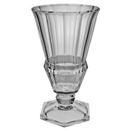 "10 1/8"" VSL Tall Crystal Footed Cup / Vase Signed Val St. Lambert - 20th Century, Belgium"