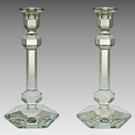 Pair VSL Crystal Candlesticks Large Crystal Modern - 20th Century, Belgium