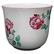 Large Planter for Tiffany & Co. Strasbourg Flowers Pattern Porcelain Flower Pot Garden - 20th Century, Portugal