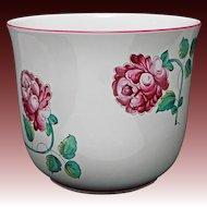 Large Planter for Tiffany & Co. Strasbourg Flowers Pattern Porcelain Flower Pot Garden - 20th Century, Portugal