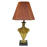 Empire Style Bronze Table Lamp Ram Heads Ormolu - France
