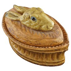 Pillivuyt Rabbit Hare Glass Eyes Tureen Terrine French - France