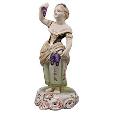 Royal Crown Derby Autumn Figurine Signed Seasons Allegory - 20th Century, England