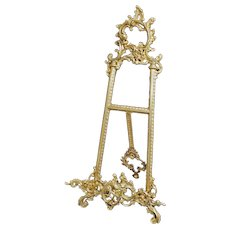 Large Cast Bronze Easel Rococo Style Tabletop