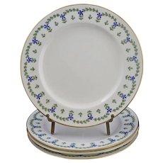 Set Minton for Tiffany & Co. 4 Porcelain Plates H596 Antique - 1913, England