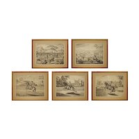 Set 18th C Horsemanship Dressage Engravings William Cavendish after Diepenbeke - Dutch / Flemish School