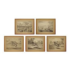 Set 18th C Horsemanship Dressage Engravings William Cavendish after Diepenbeke - Dutch / Flemish School