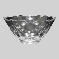 Cartier Crystal Large Modern Cut Bowl - 20th Century, France