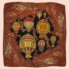 Dior Hot Air Balloon Paisley Silk Scarf / Carre Large