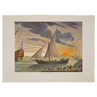 Complete Set Nautical Engravings after Henri Sbonki de Passebon 17th Century Plan de Plusieurs Batiments de Mer