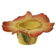 Delphin Massier Vallauris French Majolica Flower Shape Cache Pot Vase Planter