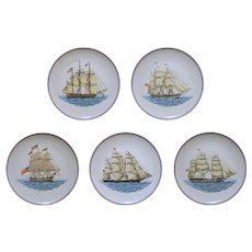 Mottahedeh Clipper Ship Plate Set Porcelain - 20th Century, Portugal