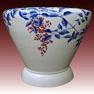 Huge Japanese Fukagawa Ceramic Planter Jardiniere Fish Bowl Large