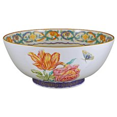 Mildred Mottahedeh Collection Porcelain Bowl Merian Service Large - 20th Century, Portugal