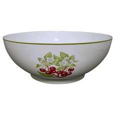 Large for Tiffany & Co. Porcelain Serving Bowl Staffordshire Gardens Pattern - 20th Century, England