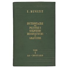 Complete Set Benezit Dictionary of Artists 8 Tomes 1960 Green Covers Librairie Grund France