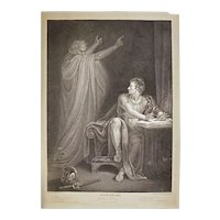 Stipple Engraving Shakespeare Julius Ceasar Act IV Scene III England Antique