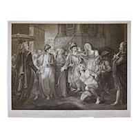 1800 Stipple Engraving Shakspeare Comedy of Errors Act V Scene I Playter Rigaud Boydell England