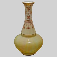 Harrach Marmoriertes Glass Double Gourd Vase Gilt Enamel - circa 1890, Austro-Hungarian Empire