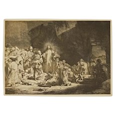 After Rembrandt Hundred Guilder Christ Preaching Reichsdruckerei Print - 1890-1910, Berlin