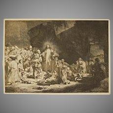 After Rembrandt Hundred Guilder Christ Preaching Reichsdruckerei Print - 1890-1910, Berlin