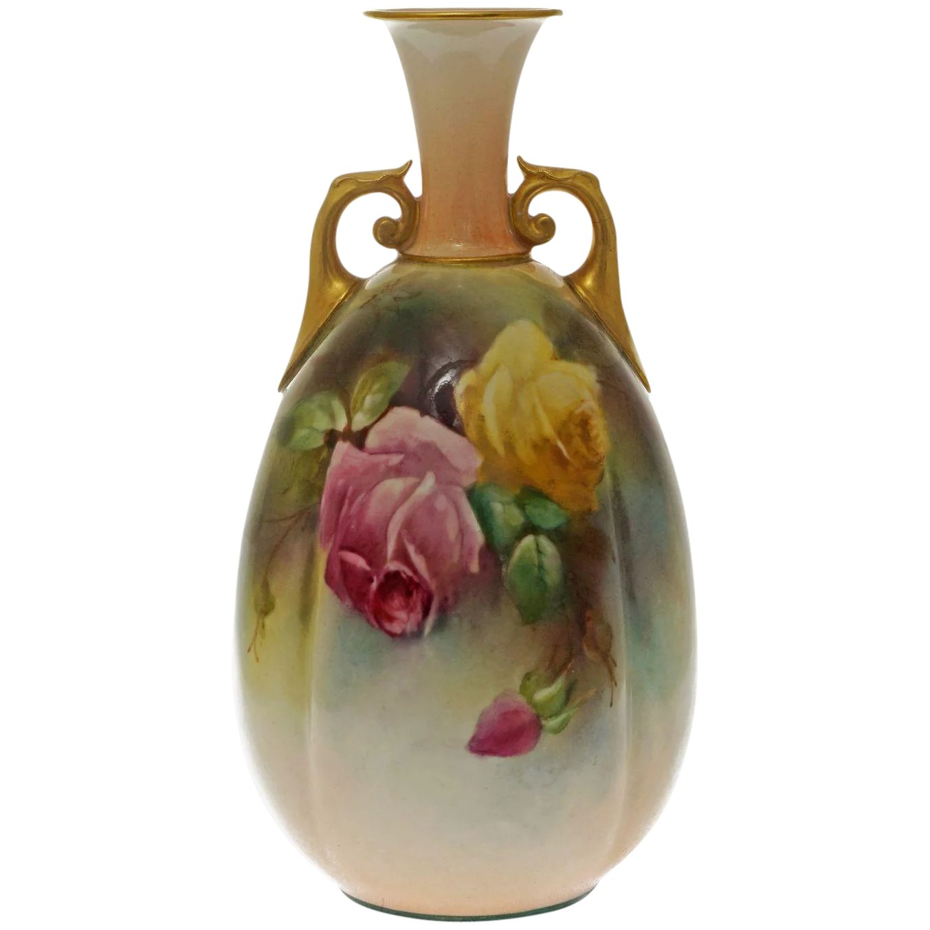 Royal Worcester Hadley Roses Signed