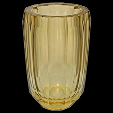 Large Daum Nancy Amber Glass Vase Signed Mid Century Modern - 20th Century, France