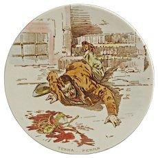 Societa Ceramica Richard Dessert Plate Elementi Terra Ferma -  ca. 1890–99, Milan, Italy