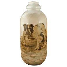 Austrian Bulldog Bottle Victoria Porcelain Altrohlau Carlsbad