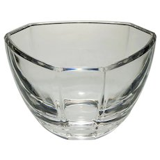 Tiffany & Co. Crystal Modern Glass Bowl Signed - 20th Century, USA