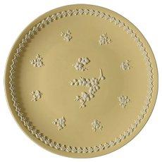Wedgwood Yellow Primrose Jasperware 8 1/4 Inch Plate - 20th Century, England