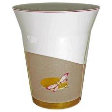 Bernardaud Galet d'Or Limoges Dragonfly Japonisme Luxury Porcelain Vase - 20th Century, France