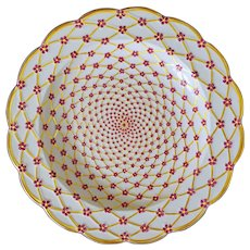 Limoges Porcelain Plate after Imperial Russian Private Service Large - 20th Century, France