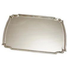 Large Serving Bar Tray Classic Modern Silver Plate Vintage