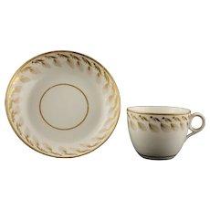Georgian Minton Gilded Tea Cup Saucer Pattern 101 English Porcelain - c. 1805-16, England